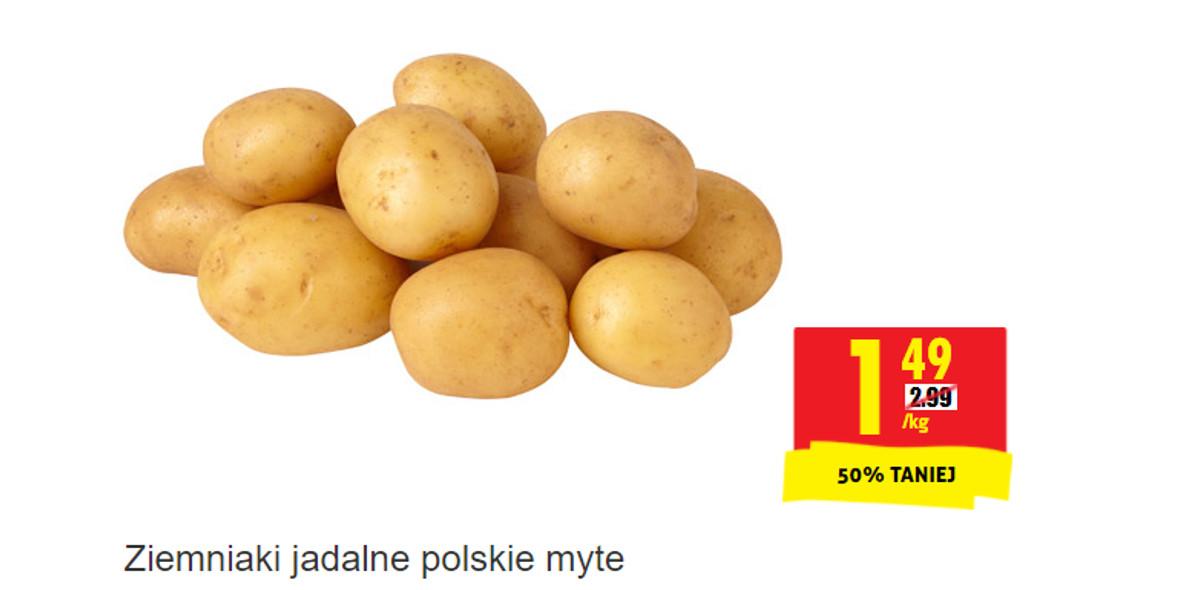 Biedronka:  -50% na ziemniaki jadalne polskie myte 15.10.2021