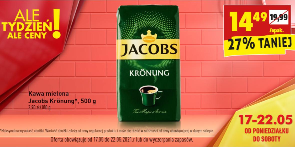 Biedronka: -27% na kawę mieloną Jacobs Krönung 500 g 17.05.2021