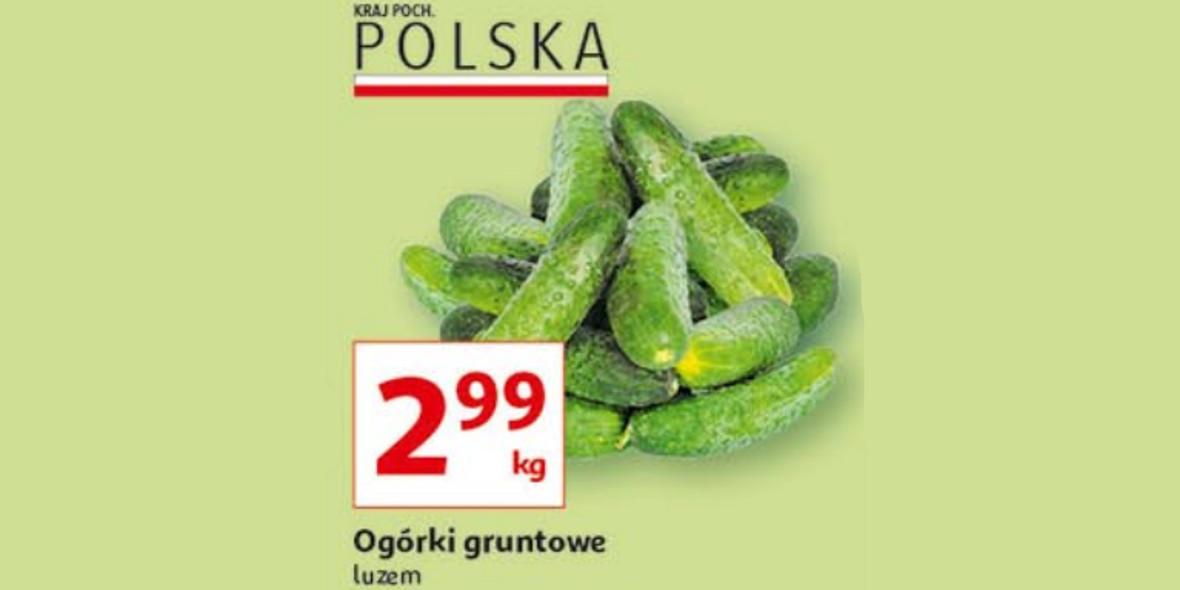 Auchan: 2,99 zł za kilogram ogórków gruntowych 29.07.2021