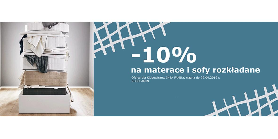 na materace i sofy rozkładane z IKEA FAMILY