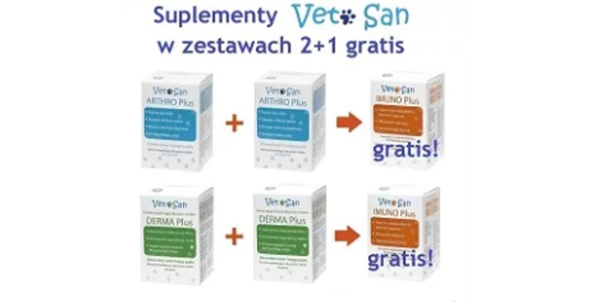 Fera: 2 + 1 suplementy VetSan w zestawach promocyjnych