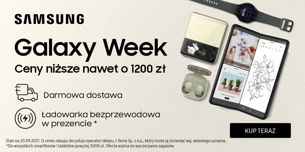 Samsung: Do -1200 zł i darmowa dostawa 20.09.2021