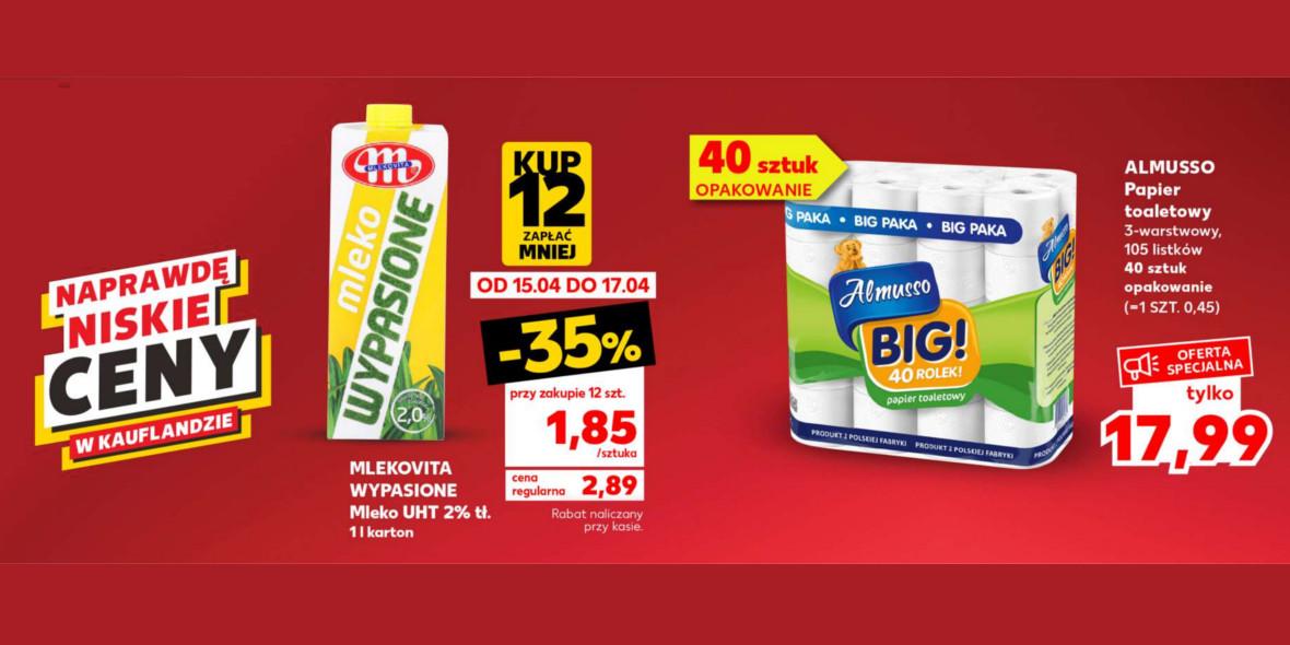 Kaufland:  Naprawdę niskie ceny w Kauflandzie 15.04.2021