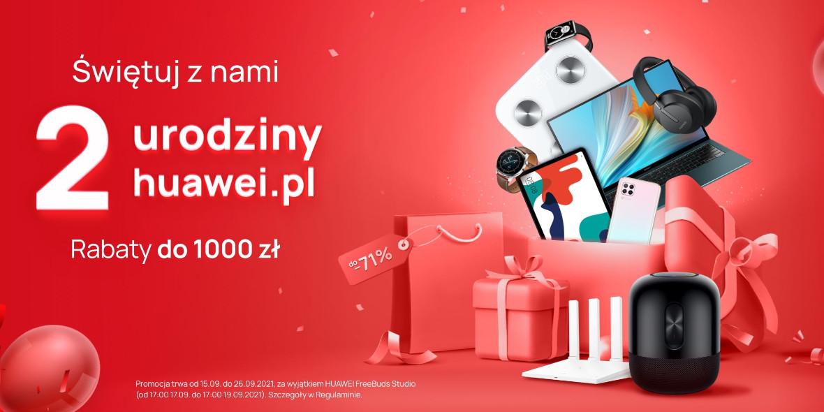 Huawei: Do -1000 zł na urządzenia Huawei