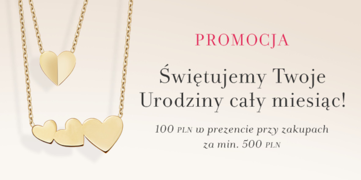 Yes: -100 zł na Twoje urodziny
