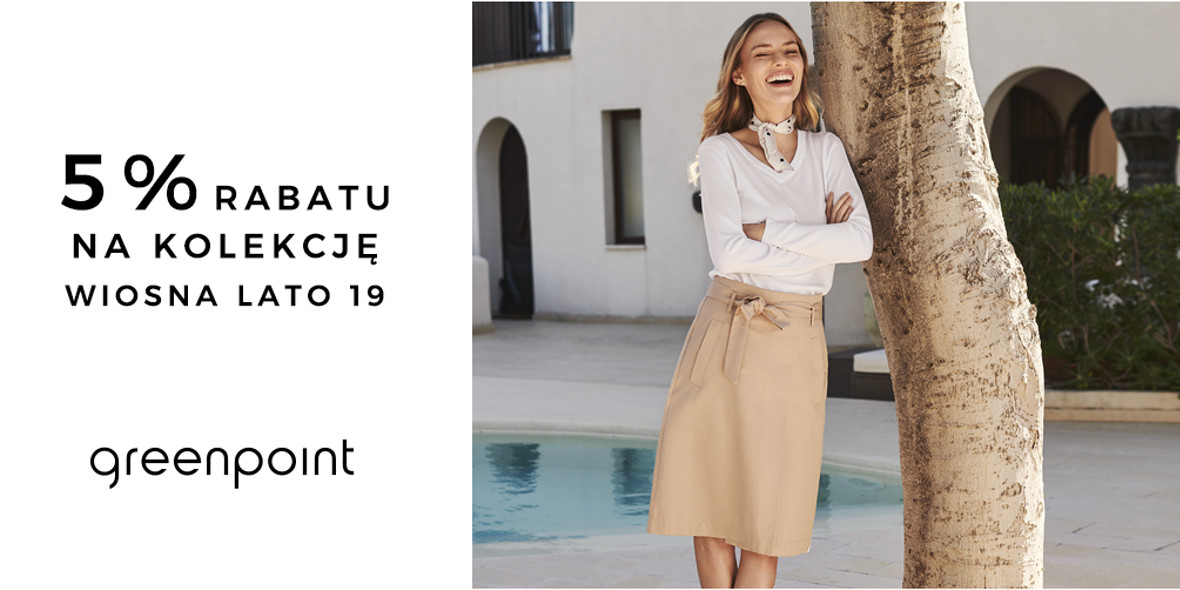 Greenpoint: -5% na nową kolekcję w M1 Poznań 07.11.2018