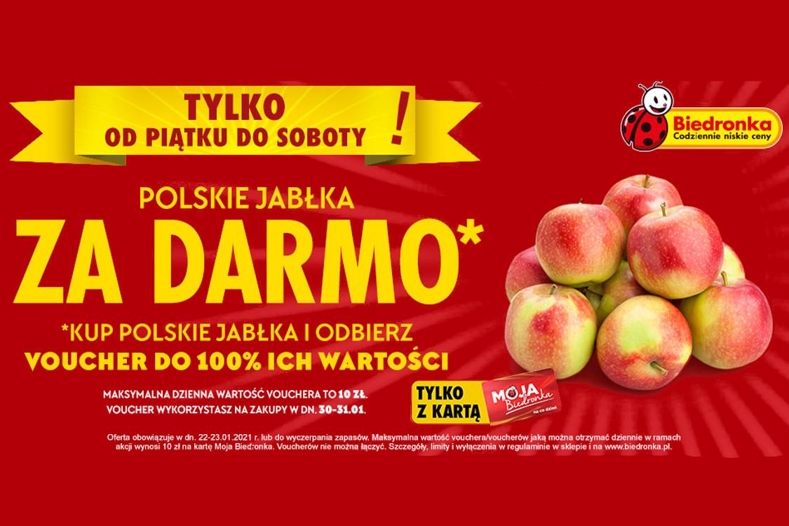 Biedronka: Za darmo Za darmo polskie jabłka 22.01.2021