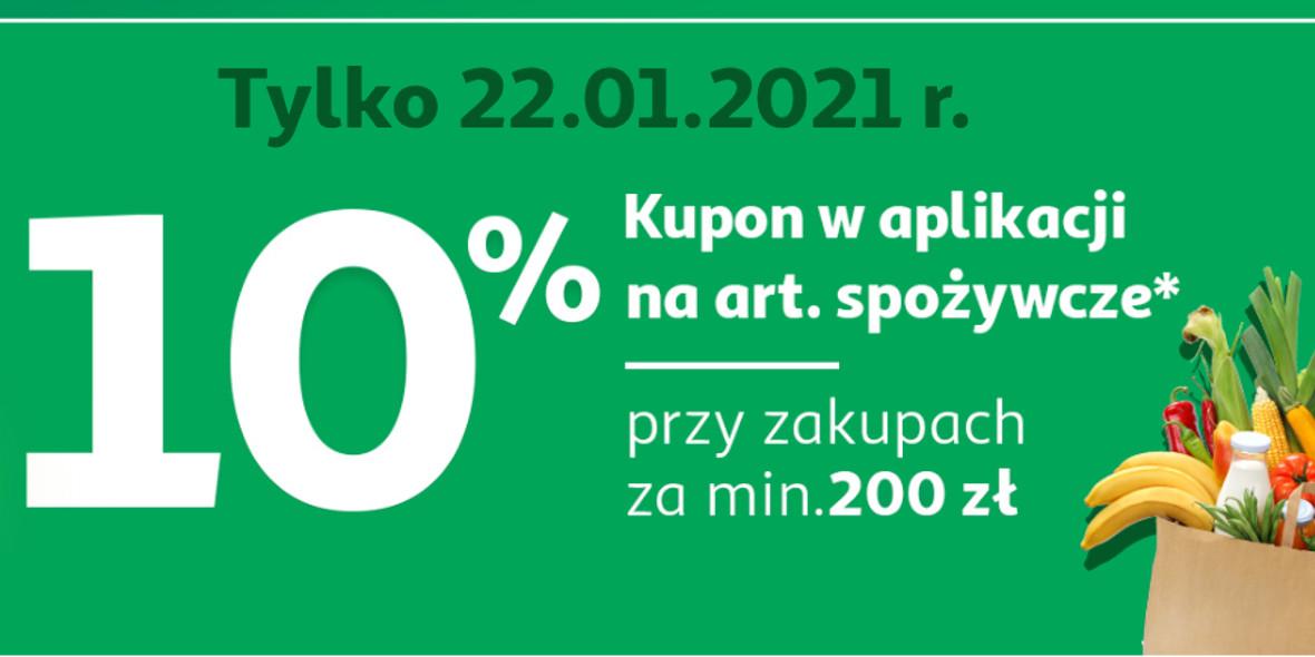 Auchan: -10% na art. spożywcze  z kuponem w aplikacji 22.01.2021