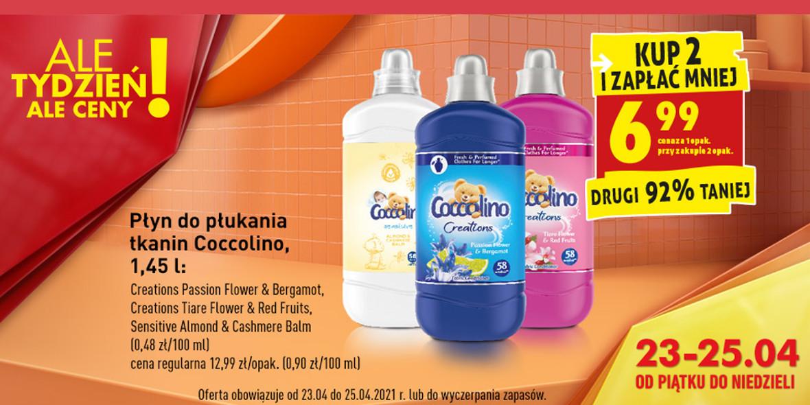 Biedronka:  -92% na drugi płyn Coccolino 23.04.2021