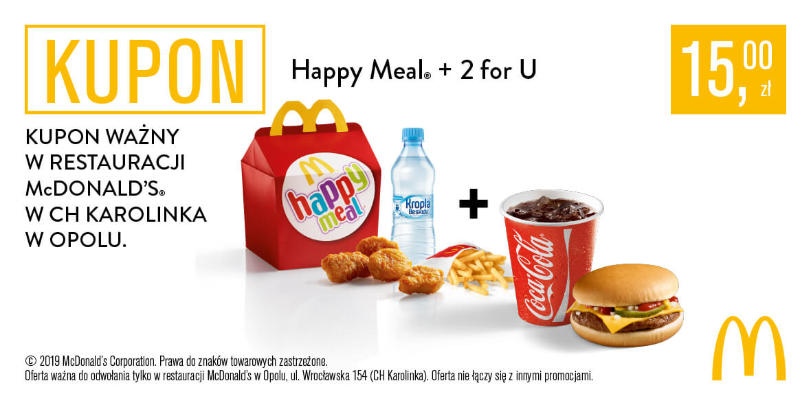 za Happy Meal® + 2 for U
