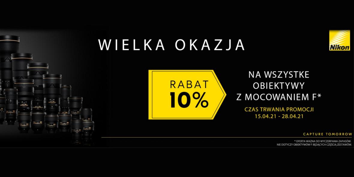 FotoForma:  -10% na obiektywy Nikon F 15.04.2021