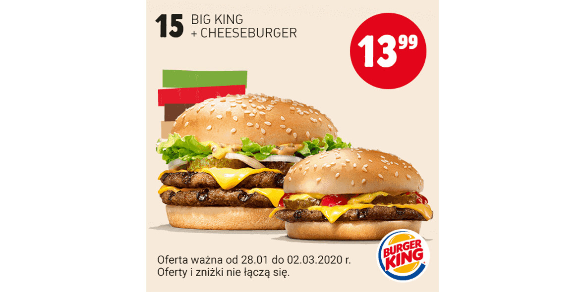 za Big King + Cheeseburger