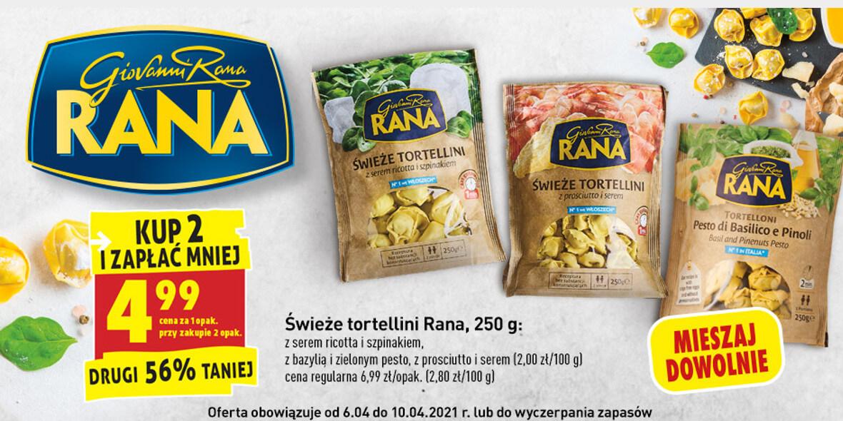 Biedronka: -56% na drugie opakowanie tortellini Rana 06.04.2021