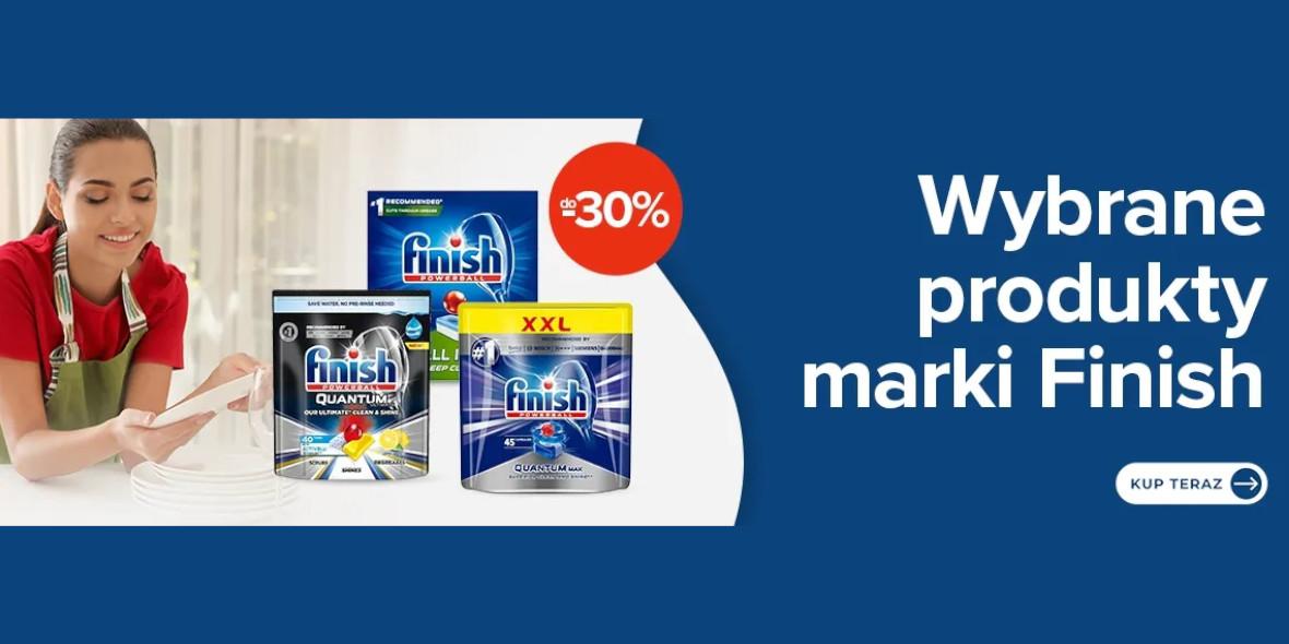 Carrefour: Do -30% na wybrane produkty Finish 30.07.2021