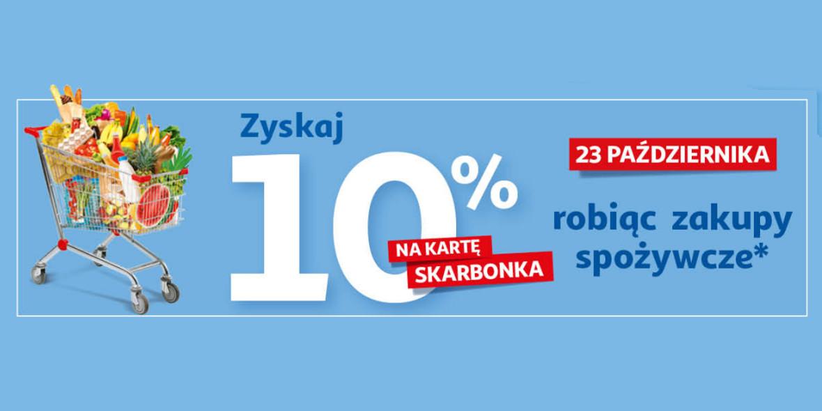 Auchan:  -10% na artykuły spożywcze 23.10.2021