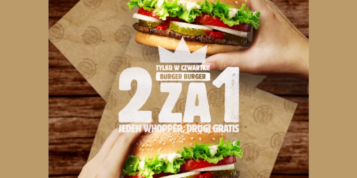 Burger King: Gratis drugi Whopper® 19.11.2020