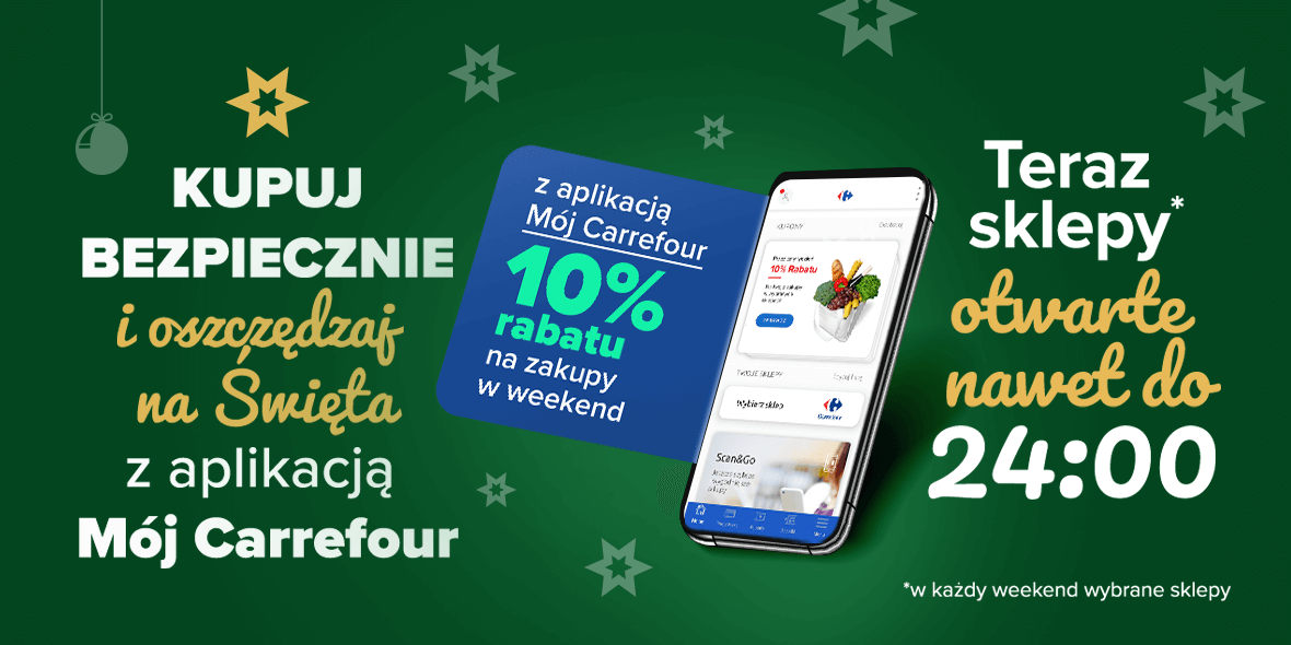 Carrefour:  10% rabatu w sklepach Carrefour 02.12.2020