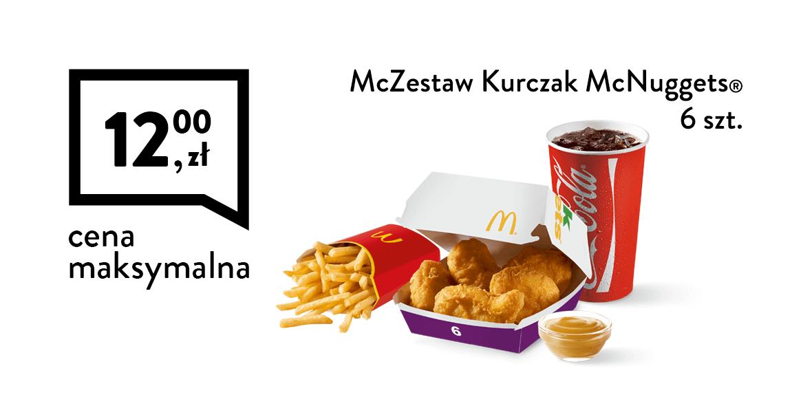 za McZestaw Kurczak McNuggets® 6 szt.