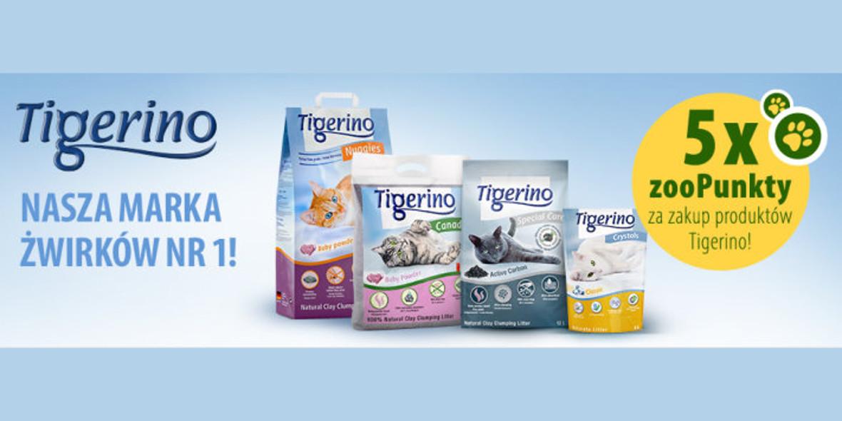zooplus:  5 x zooPunkty za zakup produktów marki Tigerino 15.09.2021