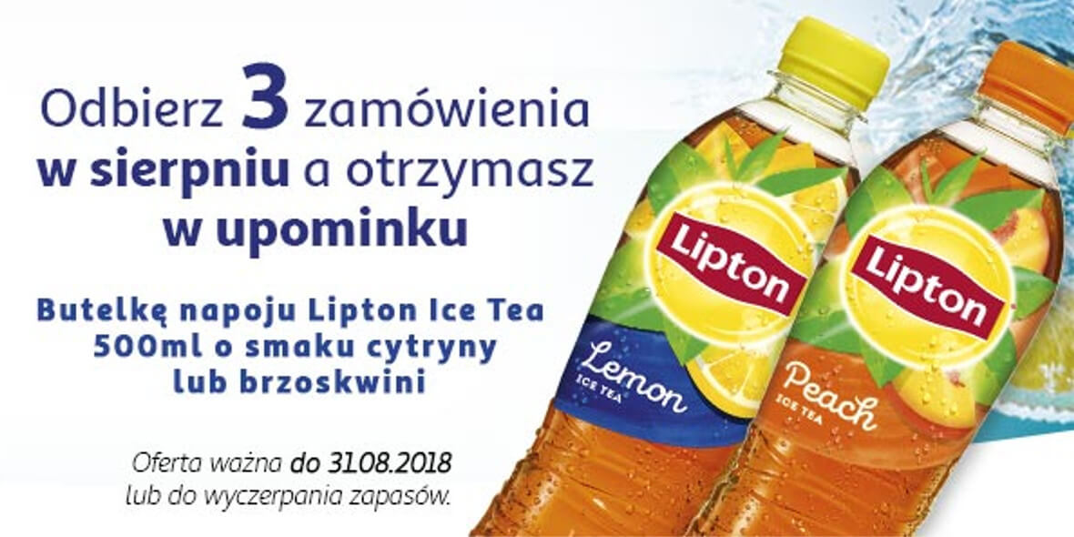 butelka napoju Lipton Ice Tea