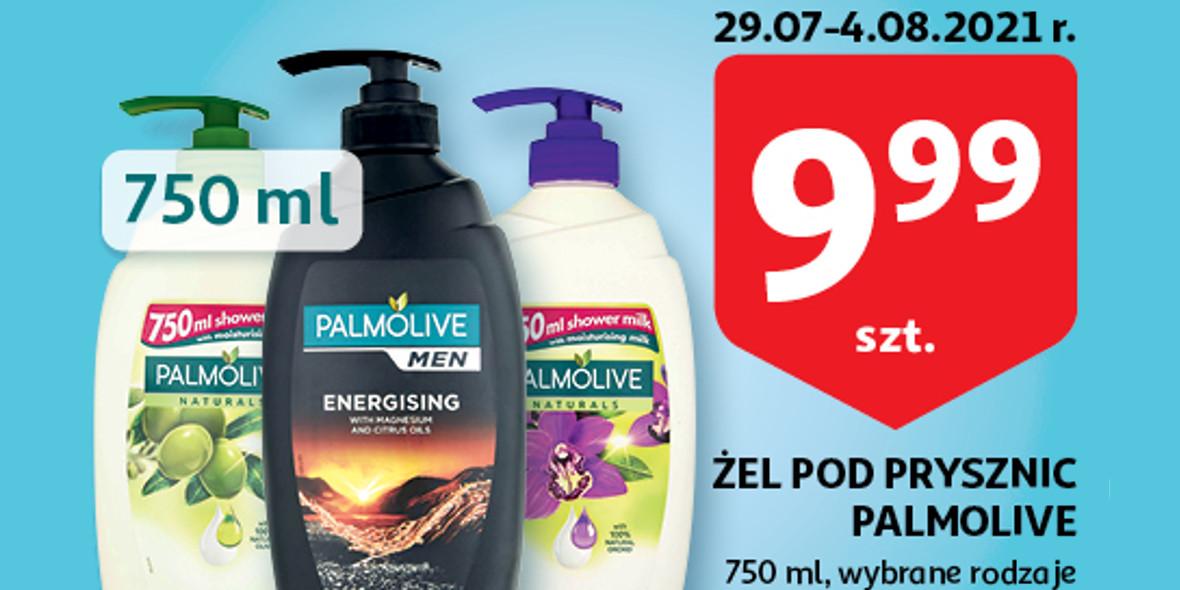 Auchan:  9,99 zł za żel pod prysznic Palmolive 29.07.2021