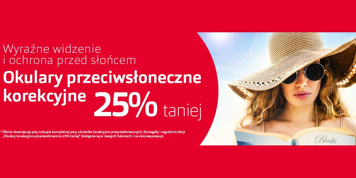 Vision Express: Kod: -25% na okulary przeciwsłoneczne korekcyjne 17.09.2021