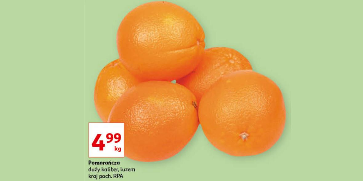 Auchan: 4,99 zł za kilogram pomarańczy 21.10.2021