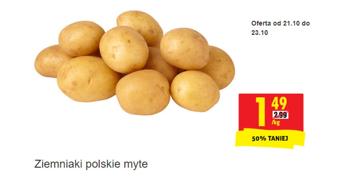 Biedronka: -50% na ziemniaki polskie myte 22.10.2021
