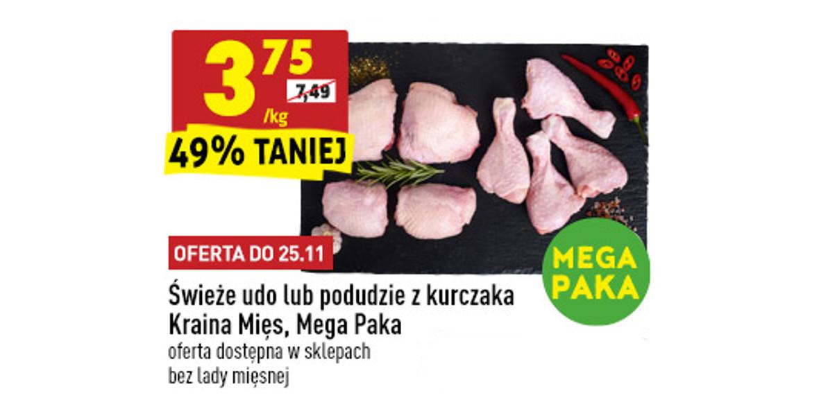 Biedronka: -49% na udo lub podudzie kurczaka 23.11.2020