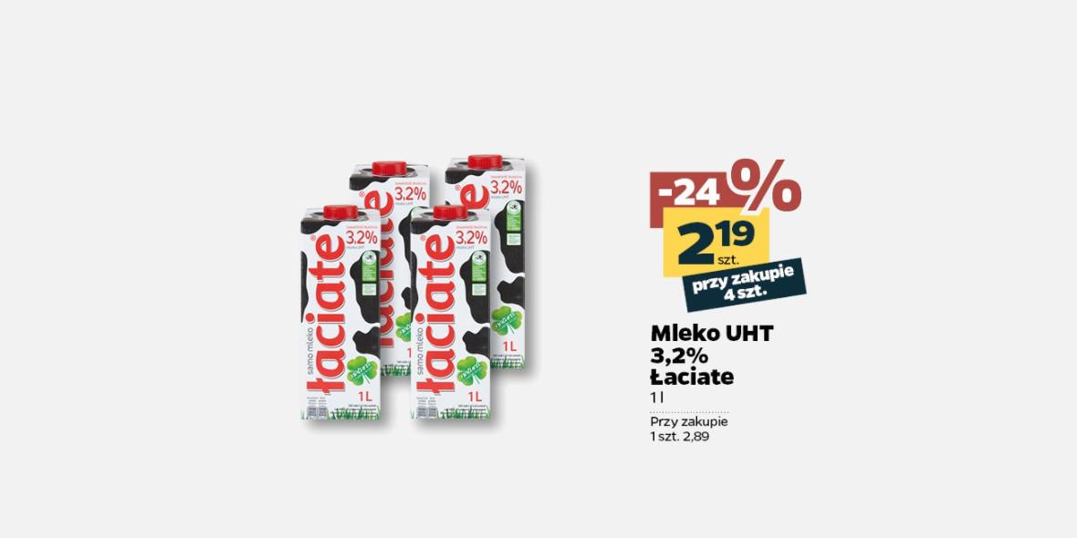 Netto: -24% na Mleko Łaciate 15.06.2021