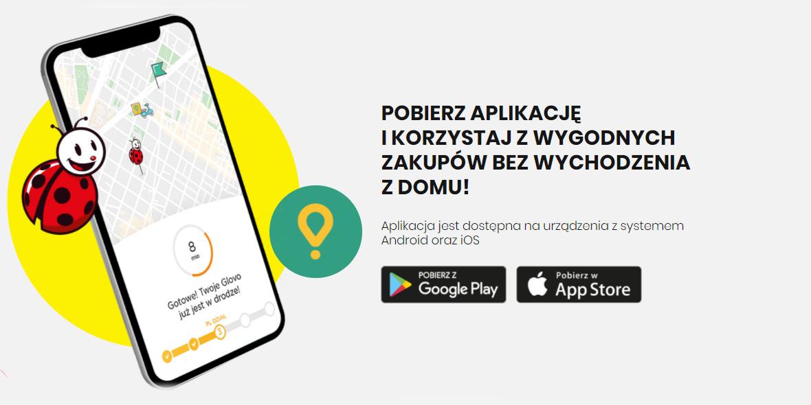Biedronka:  Kod: -20 zł na zamówienia z Glovo dla nowych 11.01.2021