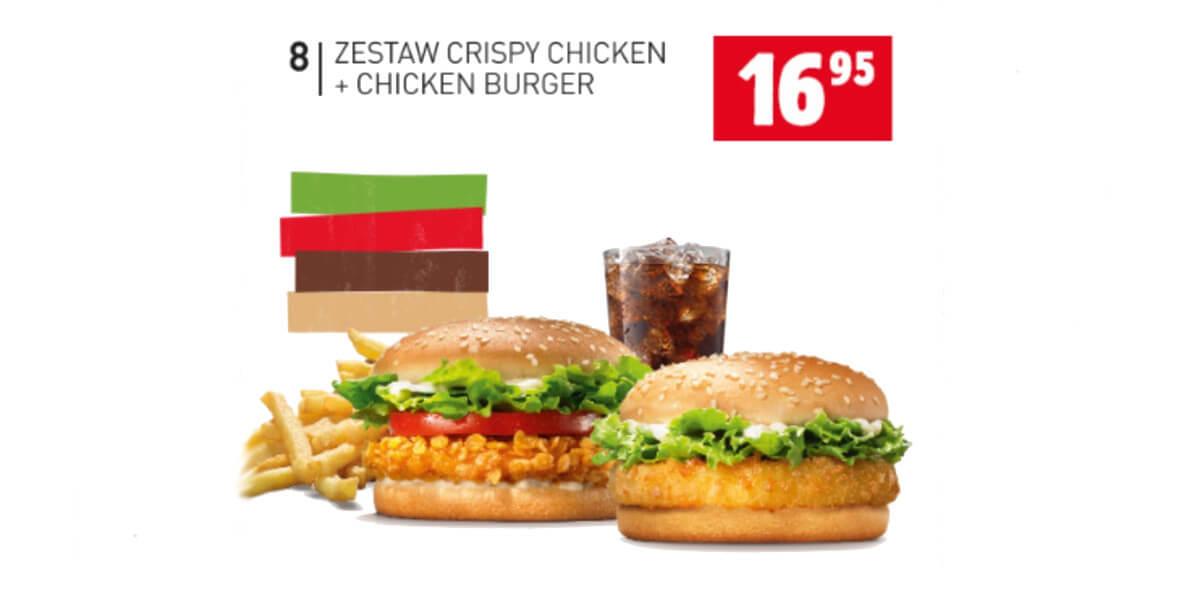 za zestaw Crispy Chicken + Chicken Burger