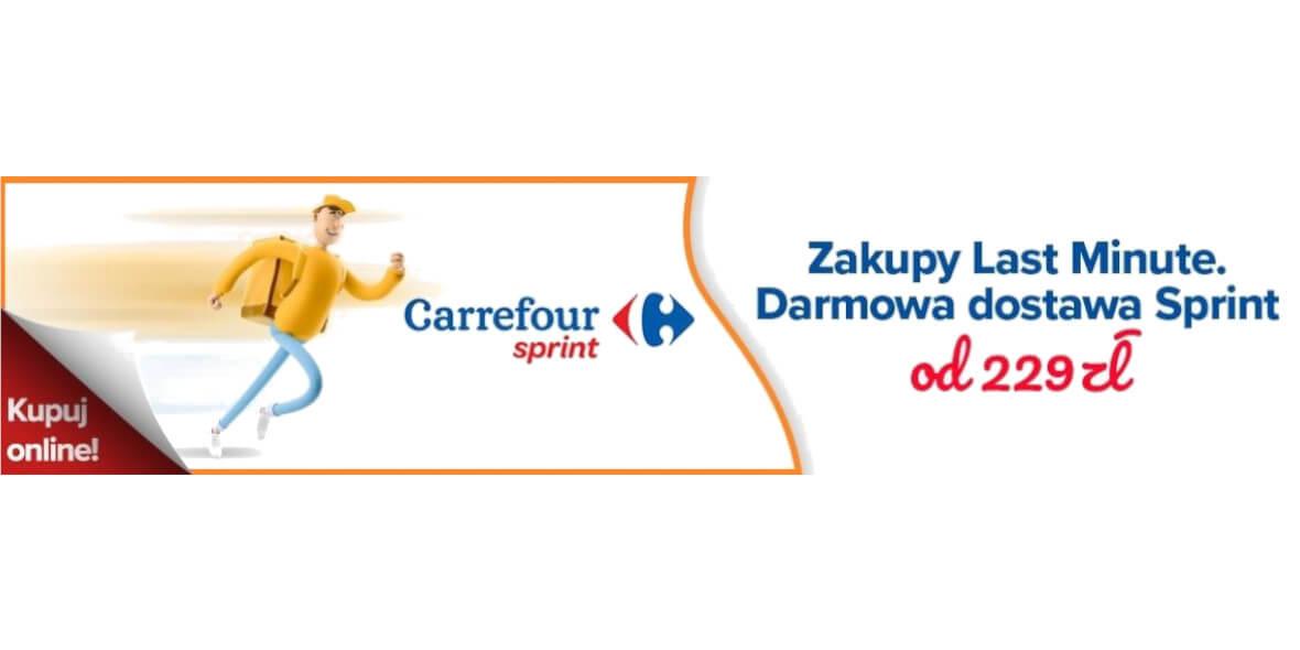Carrefour: Darmowa dostawa Sprint 01.04.2021