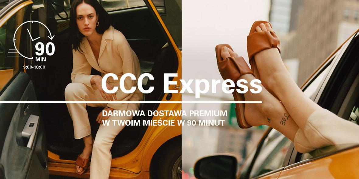 CCC:  Darmowa dostawa w 90 minut w Twoim mieście 09.02.2021