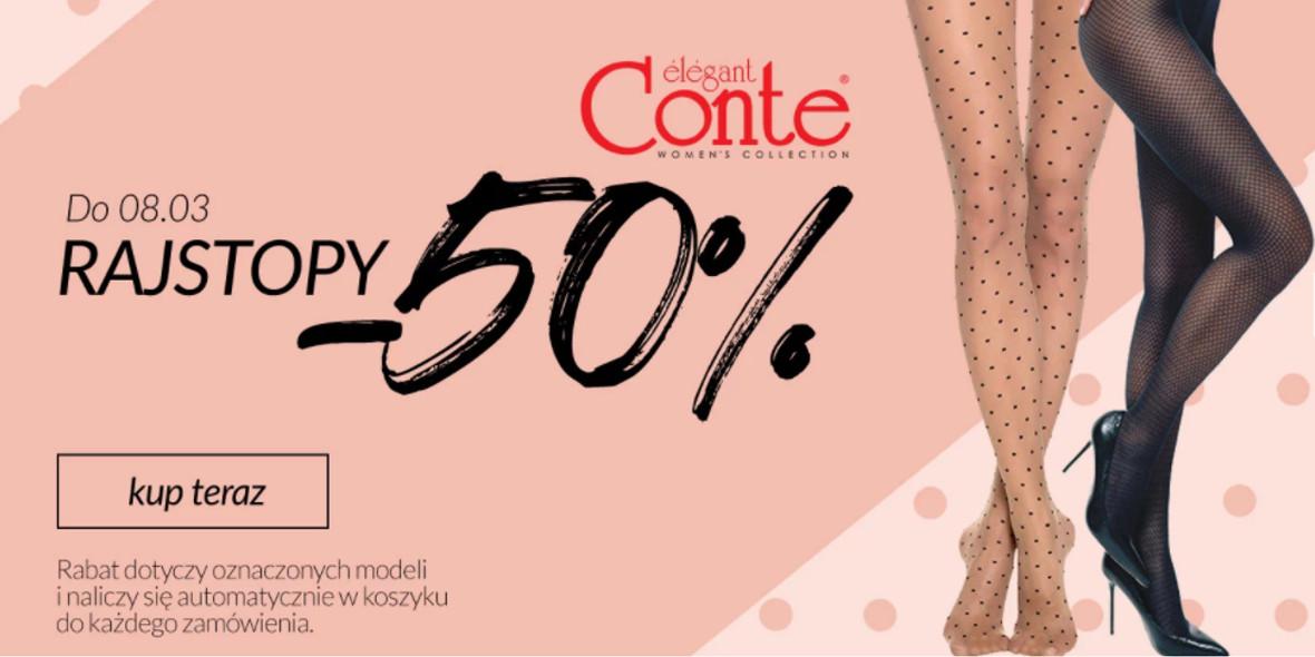 Quiosque: -50% na wybrane rajstopy Conte 04.03.2021