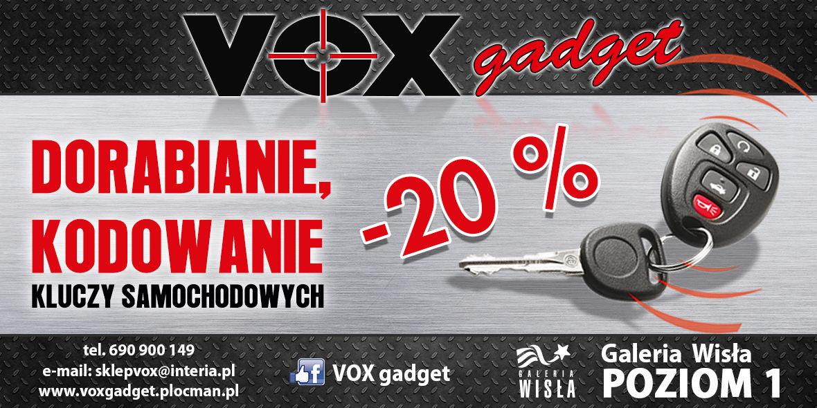 VOX Gadget: -20% na dorabianie i kodowanie kluczy samochodowych 23.08.2018
