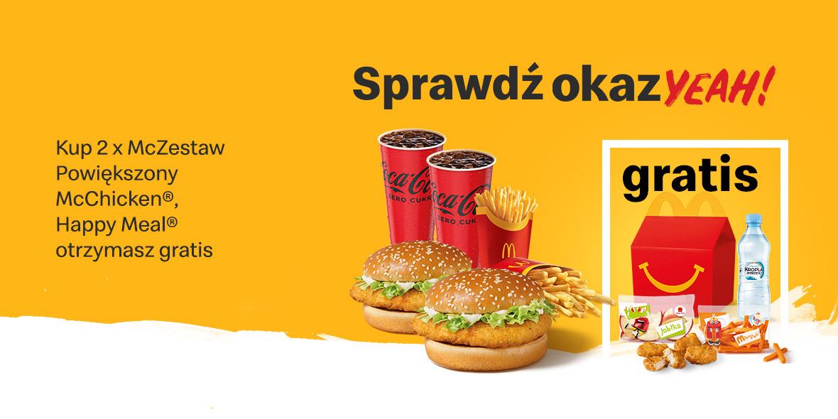 McDonald's:  Gratis Happy Meal® 14.06.2021
