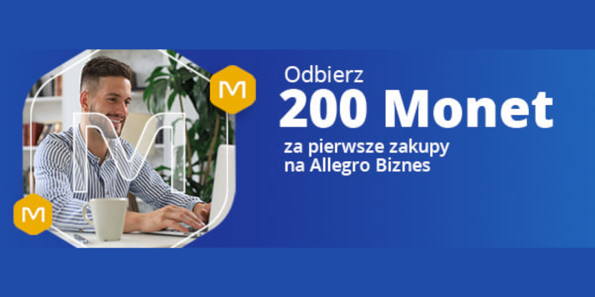 Allegro: +200 Monet za pierwsze zakupy z Allegro Biznes 19.07.2021
