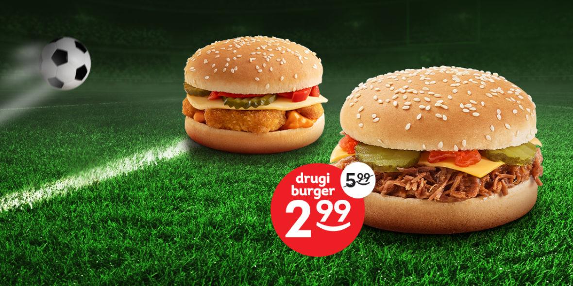 Żabka: 2,99 zł za drugiego burgera 09.06.2021