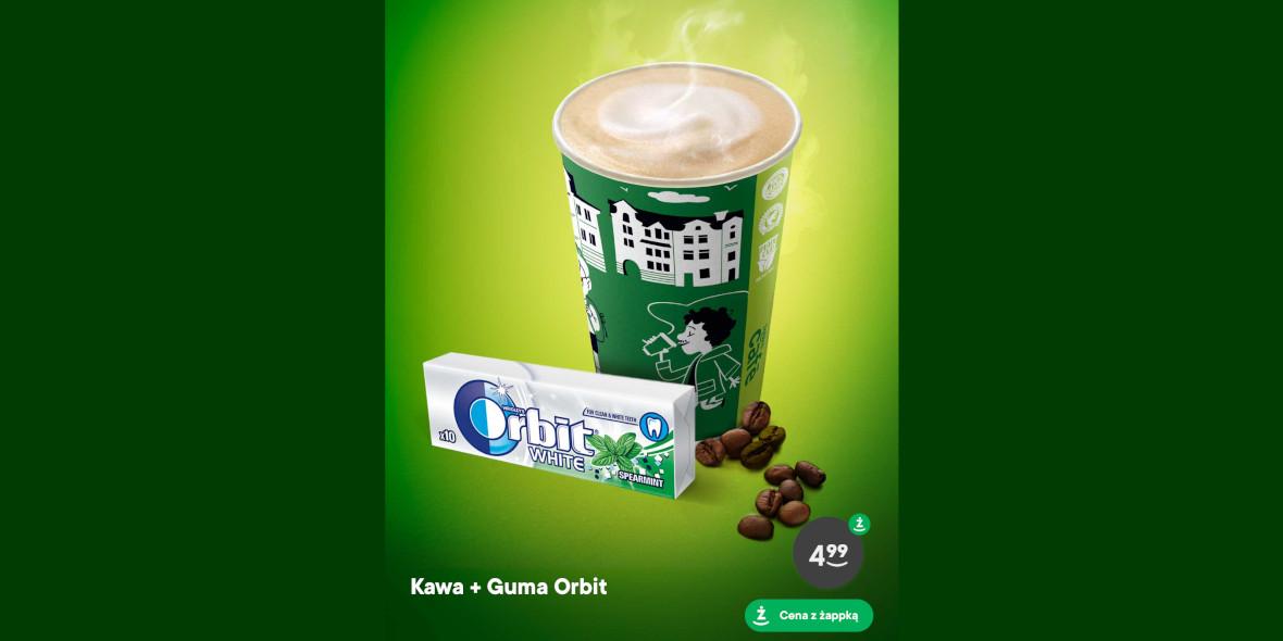 za kawę i gumę Orbit