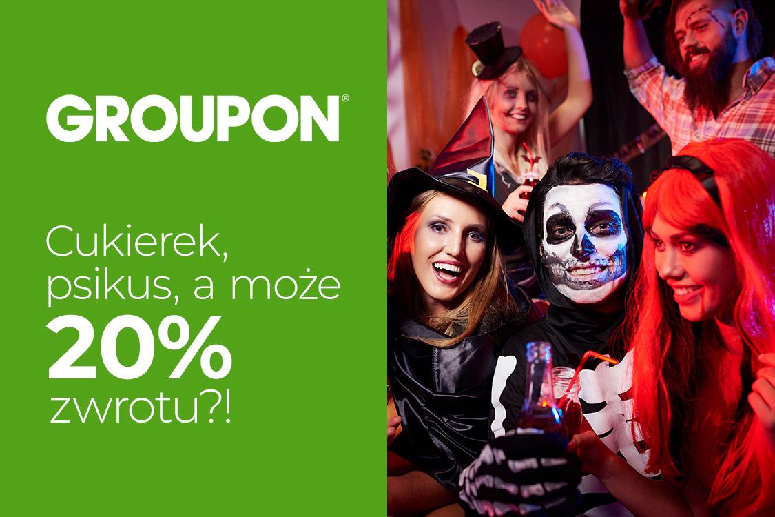 20% zwrotu na Groupon z okazji Halloween