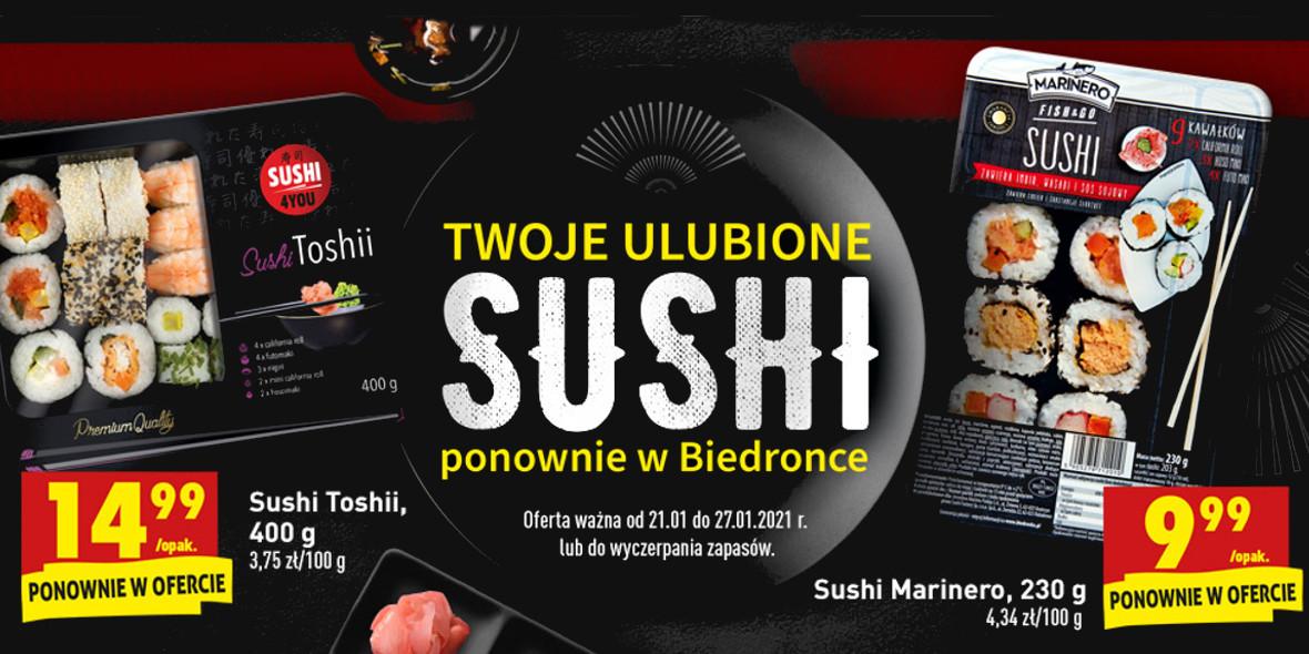 Biedronka:  Twoje ulubione sushi 21.01.2021