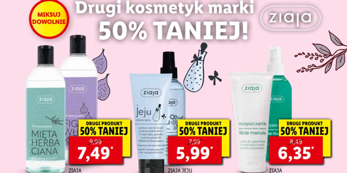 Lidl: -50% na drugi kosmetyk marki Ziaja 18.10.2021
