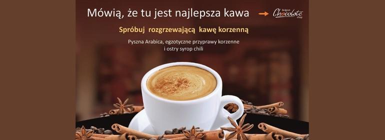 -10% na kawę korzenną + pralinka gratis