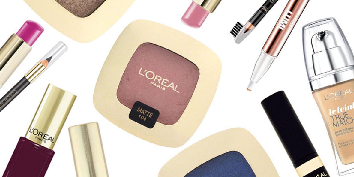 na marki L'Oréal, MaxFactor, Maybelline