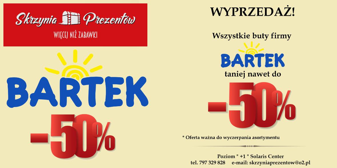 Skrzynia Prezentów: Do -50% na buty Bartek