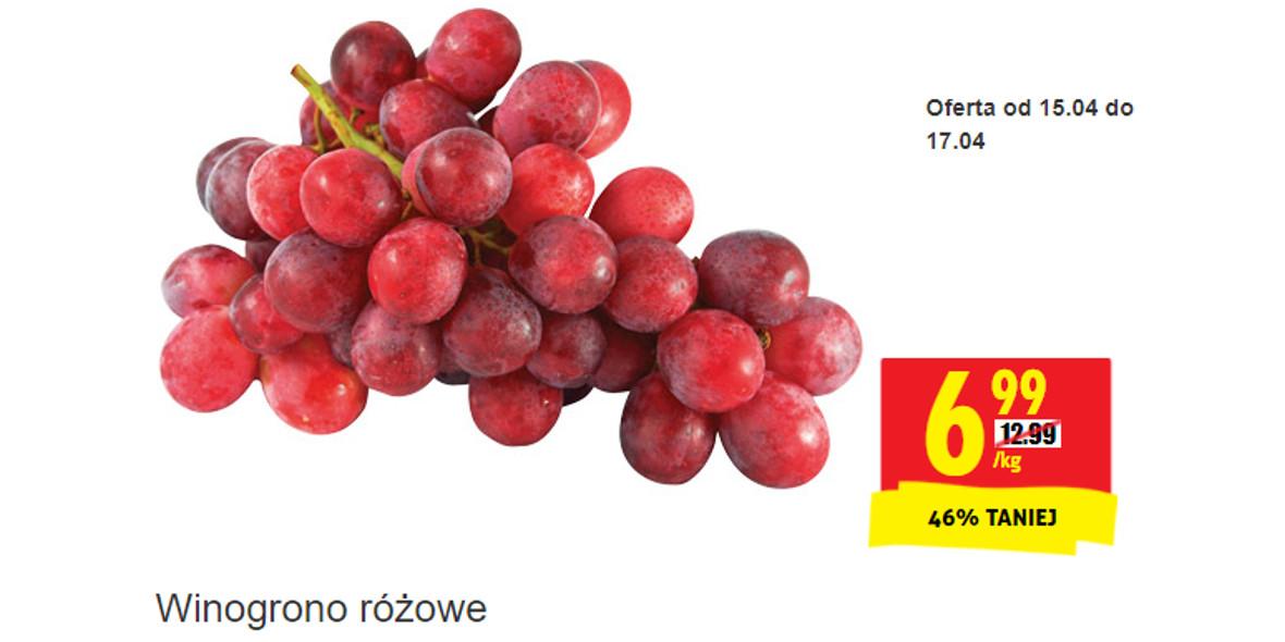 Biedronka:  -46% na winogrono różowe 15.04.2021