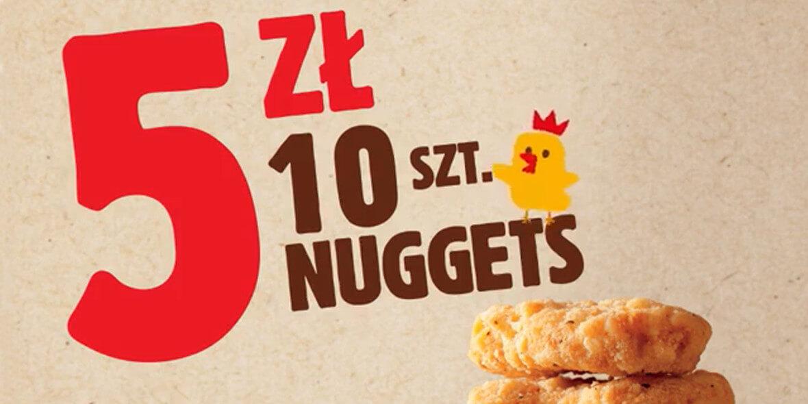 za 10 sztuk nuggetsów