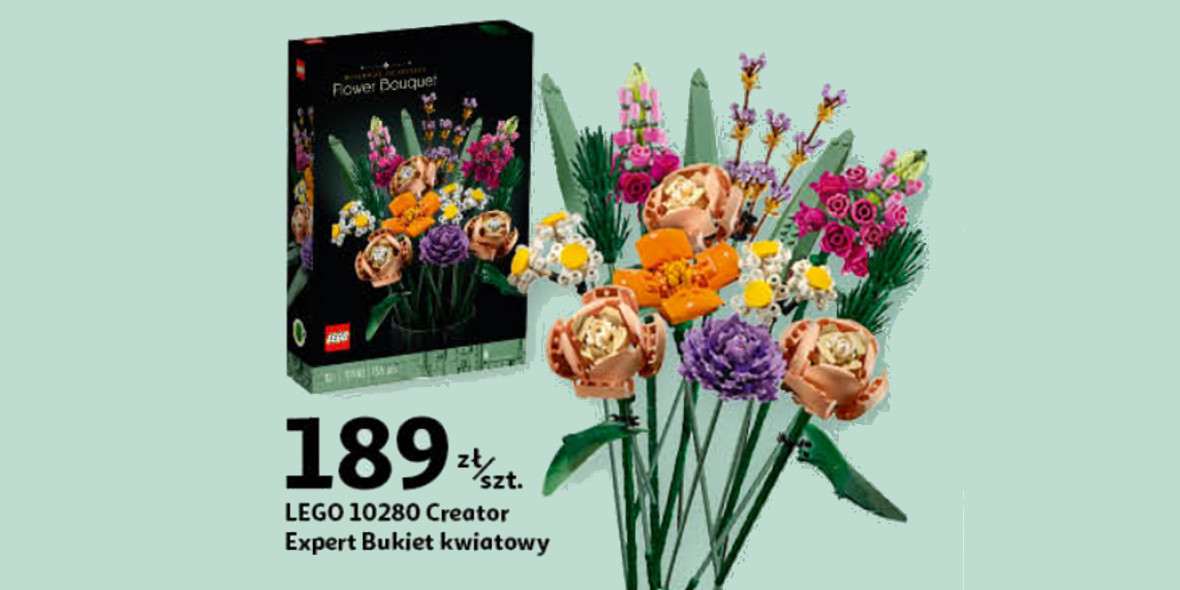 Auchan:  189 zł za bukiet kwiatów LEGO® Creator 06.03.2021