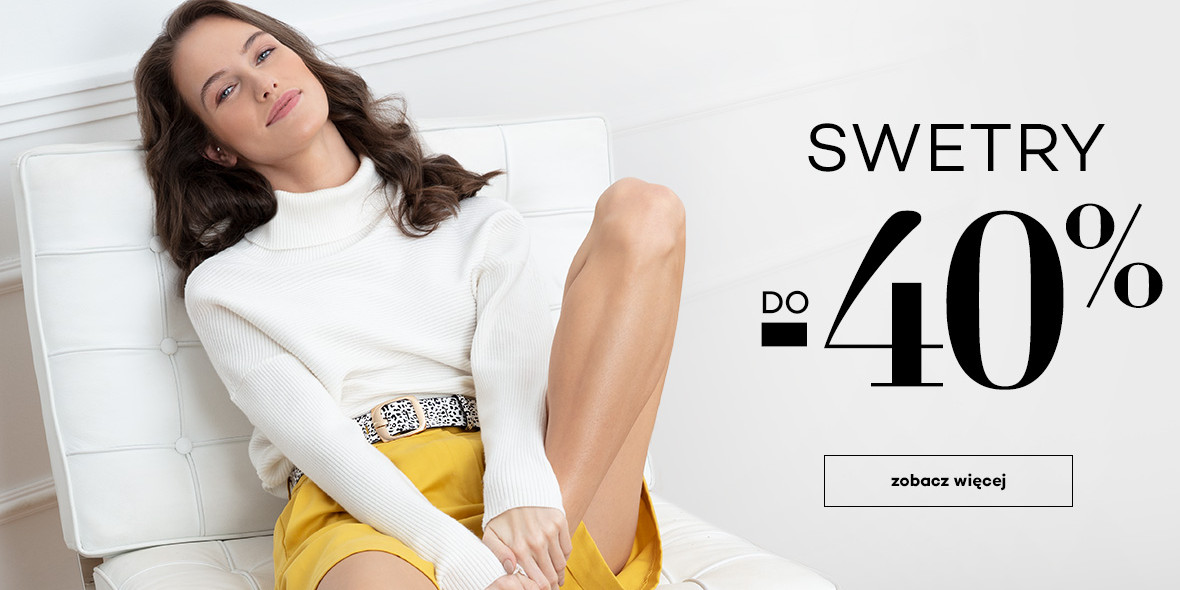 Monnari: Do -40% na wybrane  swetry 21.04.2021